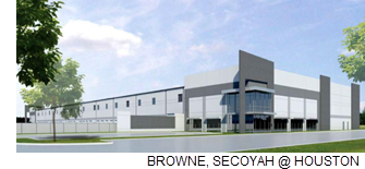 Rendering of Thompson 10 Logistics Center.