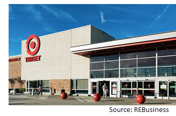 Image of the anchor tenant Target's store front.