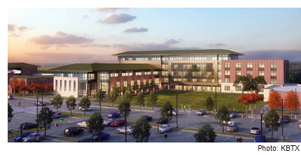 Rendering of the RELLIS campus in Bryan