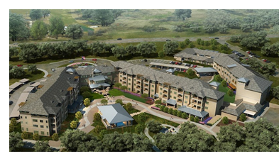 Aerial rendering of Parc at Traditions in Bryan