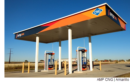 An ampCNG fueling station in Amarillo, Texas.