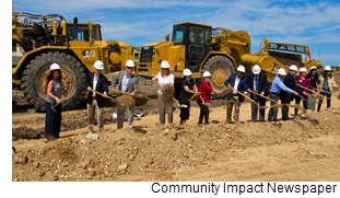 Groundbreaking ceremony at Buda Oaks Assisted Living