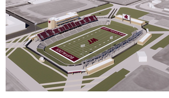 Rendering of WTAMU football stadium