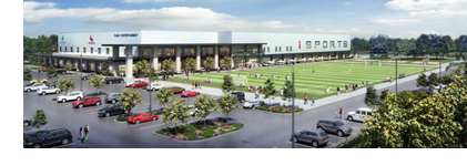 Rendering of the sports complex.
