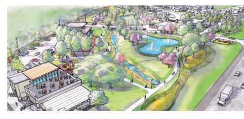 Artists rendering of proposed Cedar Park development
