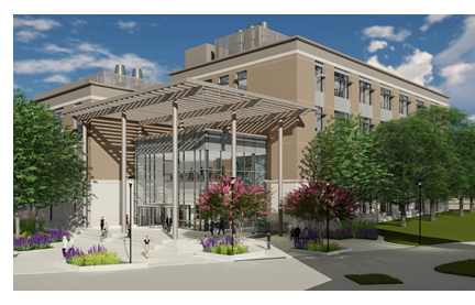 Rendering of Pathology and Microbiology building on Texas A&M West Campus