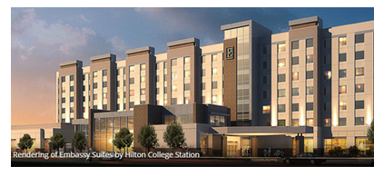 Rendering of Embassy Suites in College Station