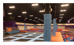 Interior of the new trampoline park in College Station