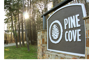 The sign at Pine Cove