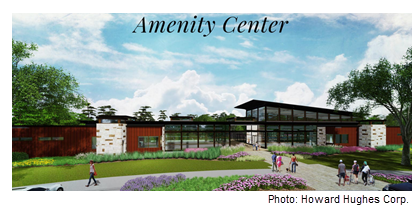 Rendering of amenity center at The Woodland Hills