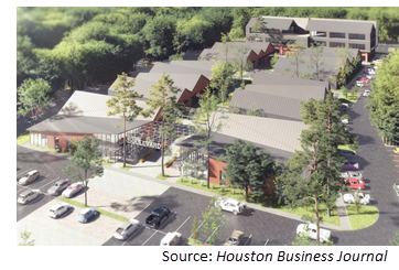 Rendering of the mixed-use development.