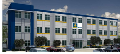 Rendering of the new Bauer-Pileco office being built in Conroe