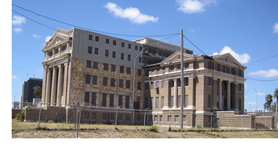 The old Nueces County Courthouse, which will not, as of August 2018, be redeveloped into a boutique hotel.