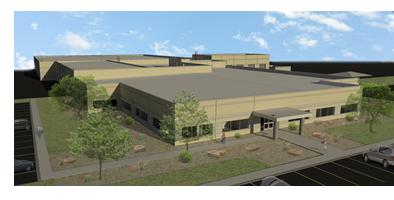 Rendering of new AEP service center in Corpus Christi