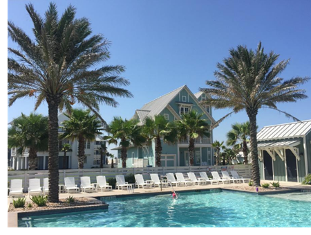 Picture of a swimming pool on Mustang Island in Cinnamon Shore
