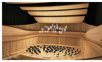 Rendering of music hall