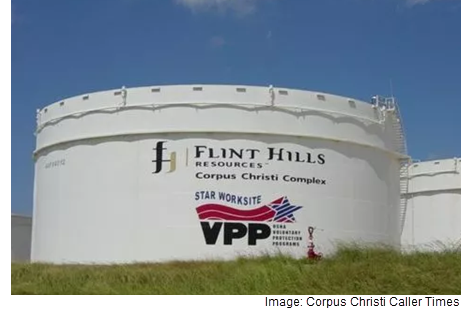 A view of the site of the Flint Hills Resources facility in Corpus Christi.