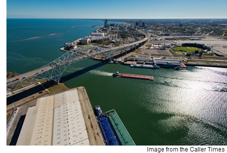 Photo showing Port of Corpus Christi, Harbor Bridge, SEA District.