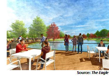Rendering of Aggie Park redevelopment