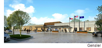 Rendering of the immigration services center.