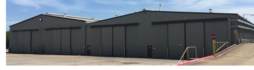 Frontal view of recently leased Oak Cliff industrial space