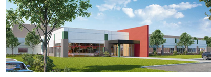 Rendering of McLane Classic Foods' new headquarters