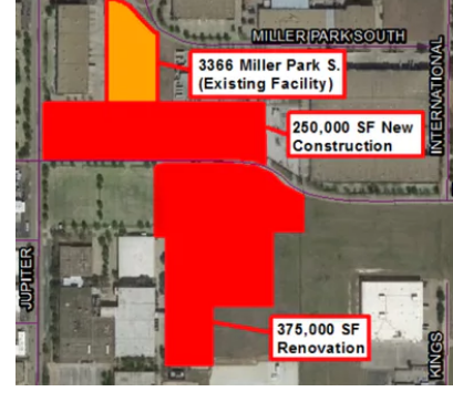 Map of where the expanding facilities will be located