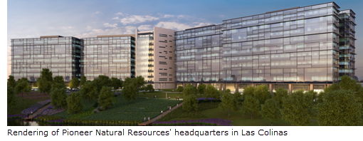 Rendering of Pioneer Natural Resources new headquarters