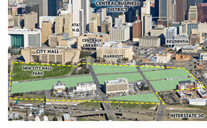 Image showing where the Dallas Smart District will be