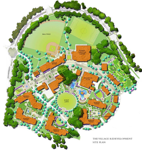 Site plan for Village Redevelopment