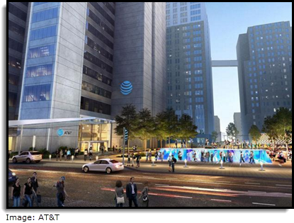 Rendering of AT&T's new renovated campus