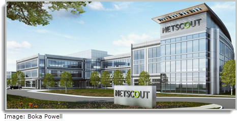 Rendering of NetScout Systems Inc. new Allen Hub