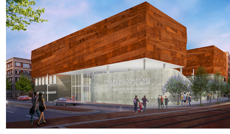 Rendering of the finished Dallas Holocaust and Human Rights Museum
