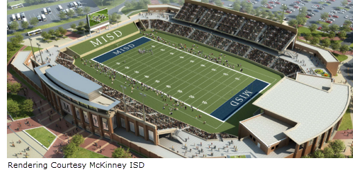 Rendering of new Mckinney ISD football stadium
