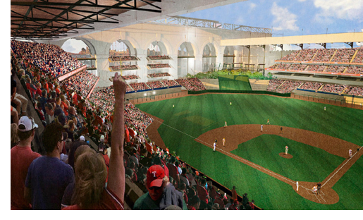 Rendering of Globe Life Field