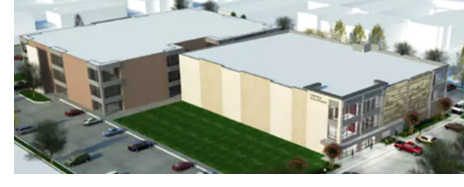 Rendering of the completed self-storage facility