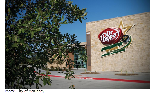 Picture of the front entrance to the Dr Pepper StarCenter