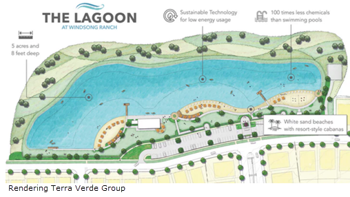 Rendering of The Lagoon at Windsong Ranch