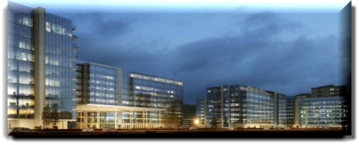 rendering of JP Morgan Chase & Co. campus in Plano