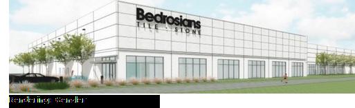 Rendering of Bedrosians Mercer Crossing distribution center