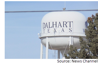Water tower in Dalhart