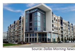 The Jefferson Landmark apartments in Farmers Branch