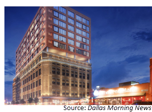 Rendering of the 16-story building on Commerce Street