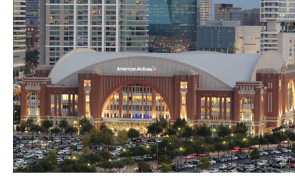 The American Airlines Center in Downtown Dallas.