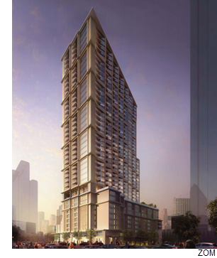 A rendering of the Atelier Tower