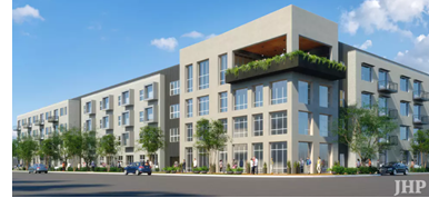 Rendering of Cypress Real Estate's rental community at 4600 Ross avenue