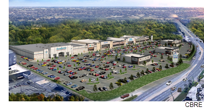 A rendering of High Point Shopping Center in East Dallas.