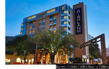 The Highland Dallas Curio hotel near the SMU campus in Dallas.