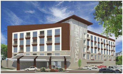 Rendering of Unscripted Hotel upon completion