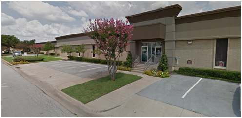 Street view shot of industrial flex space at 1101 Pamela Dr., Euless